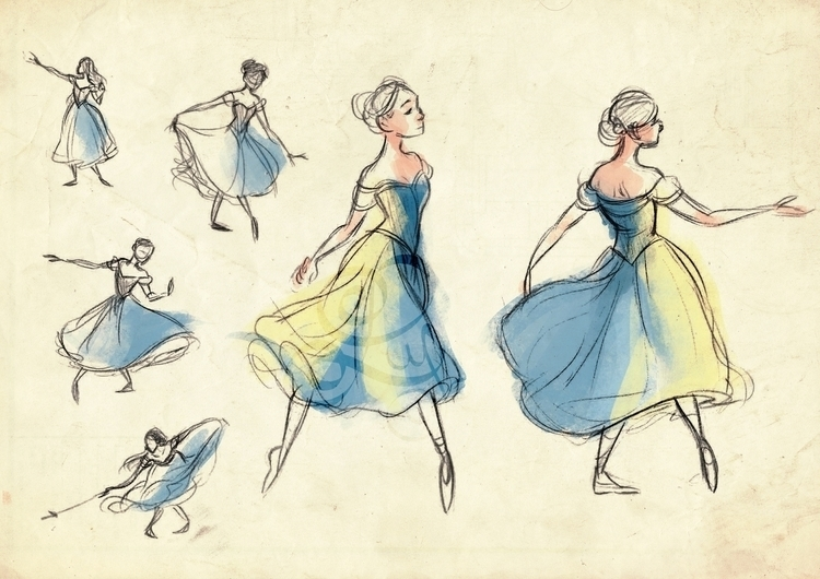 Studies favourite ballerina Sve - illuystration | ello