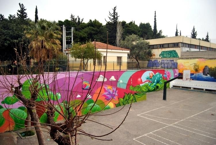 spring - mural, design, school, kaiman - kaiman-6057   ello