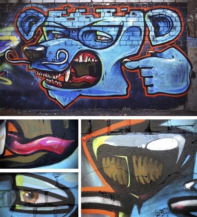 Blue bear - graffiti, art, ArtemCowy - artem_cowy | ello