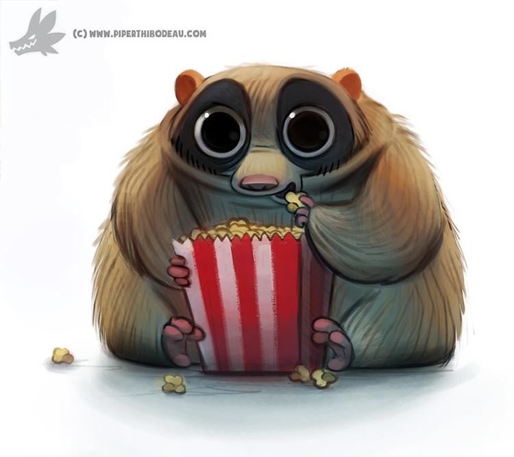 Daily Painting Slow Loris - 928. - piperthibodeau | ello