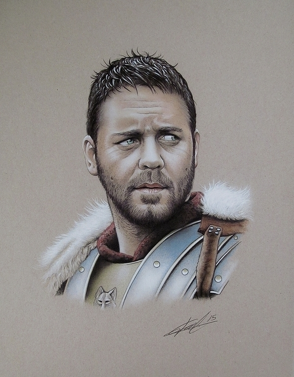 Gladiator.Airbrush,ink colored  - jcberbes | ello