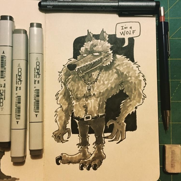 Day 17 - characterdesign, wolf, inktober2015 - pingolito | ello
