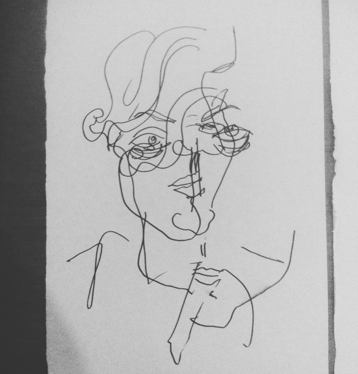 Blind contour Raquel - illustration - anastasiac-8446 | ello