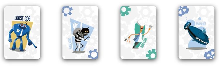 Couple robots deck - illustration - thepetersimon | ello