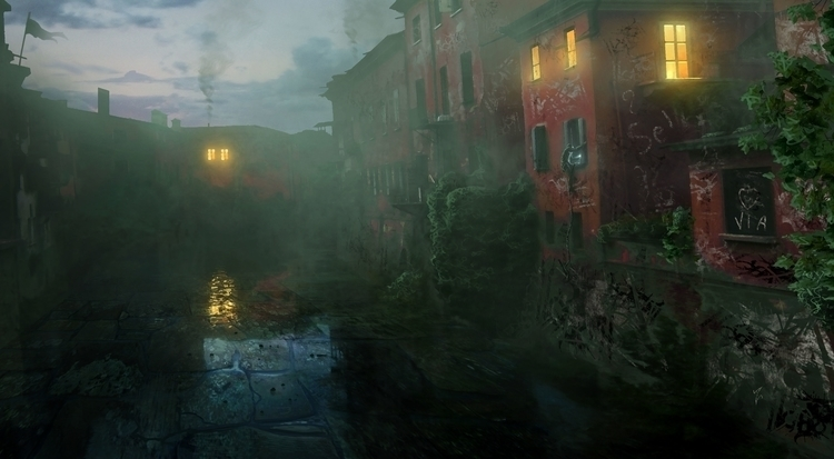 Early Morning Slums - illustration - albertovangelista | ello