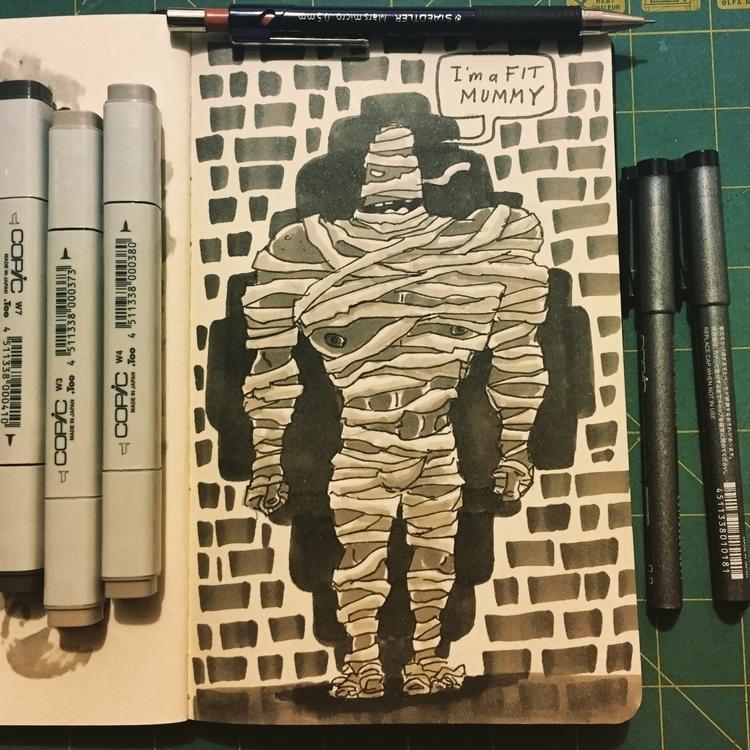 Day 20 - characterdesign, mummy - pingolito | ello
