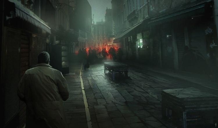 Investigation Slums - painting, conceptart - albertovangelista | ello