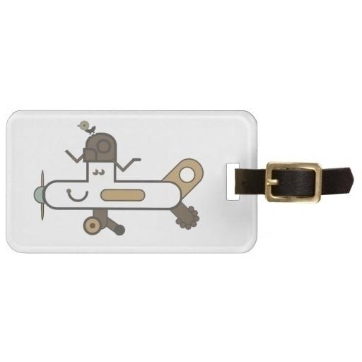 Aeroplane ZAZZLE - luggage, tag - grabatdot   ello