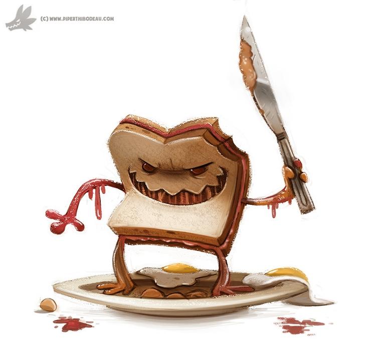 Day 793. Evil Sandwich - piperthibodeau | ello