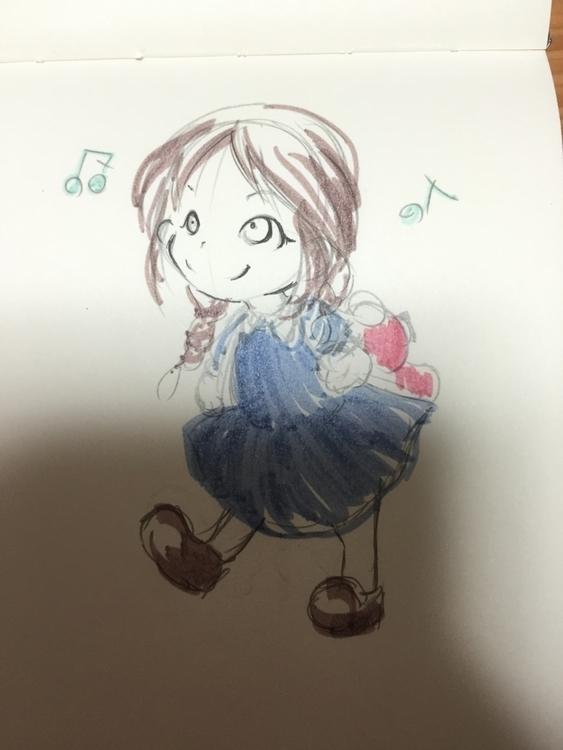 girl sketch - penink, character - mami-1374 | ello