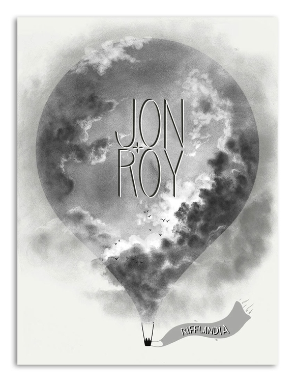 Jon + Roy Poster, Rifflandia Mu - juicybeetle | ello