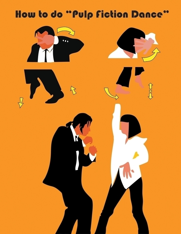 Pulp Fiction Dance - illustration - yuanzihan | ello
