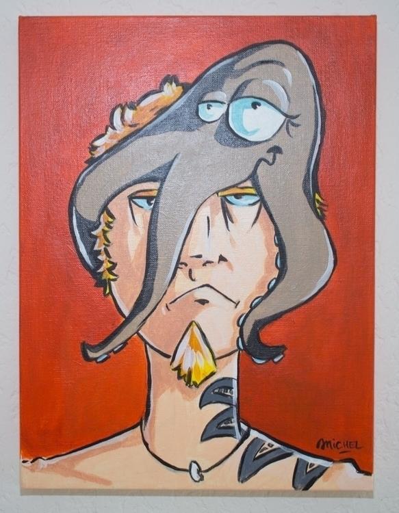 La pieuvre Acrylique sur toile  - artnoz | ello