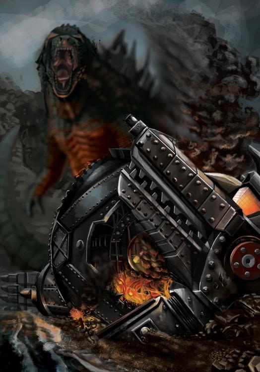 Godzilla MechaGodzilla God-Zine - erroseart   ello