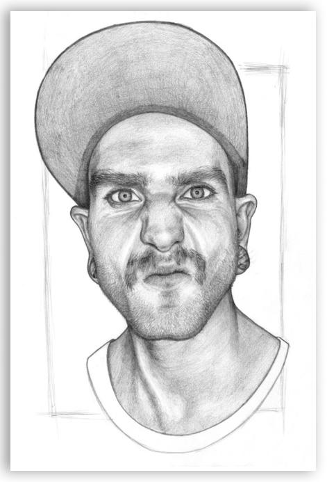 Iain, personal portrait project - juicybeetle | ello