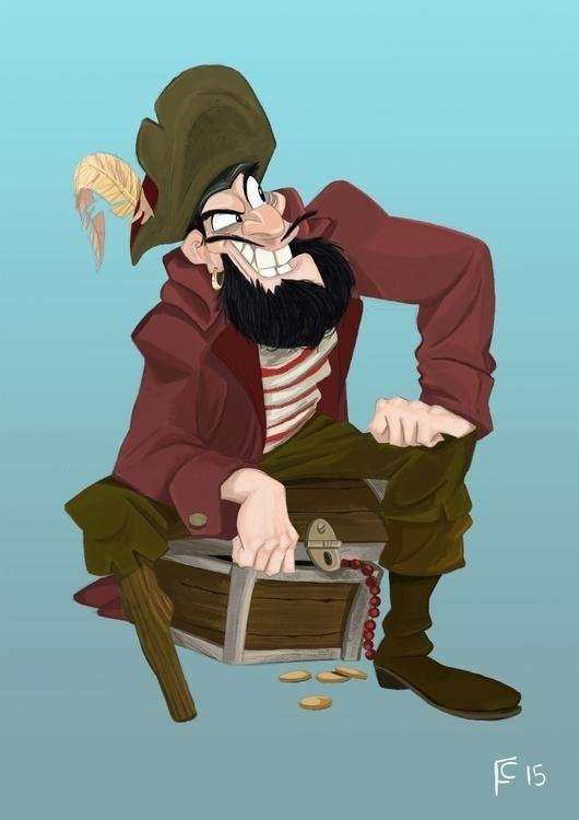 Pirate - pirate, digitalillustration - finbarcoyle   ello