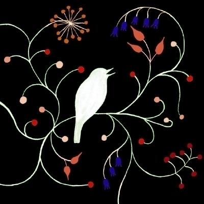 black, bird, singing, blue, pink - robincottage | ello