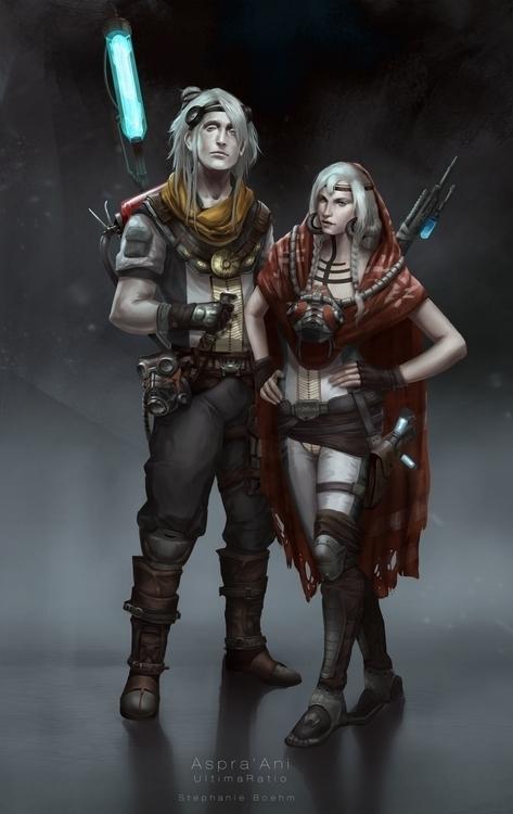 Aspra'Ani - characterdesign, scifi - stephanieboehm | ello