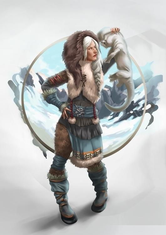 Icemage - characterdesign, illustration - stephanieboehm | ello