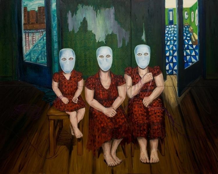 Social fantastism. Oil canvas,  - gadabout-2764   ello