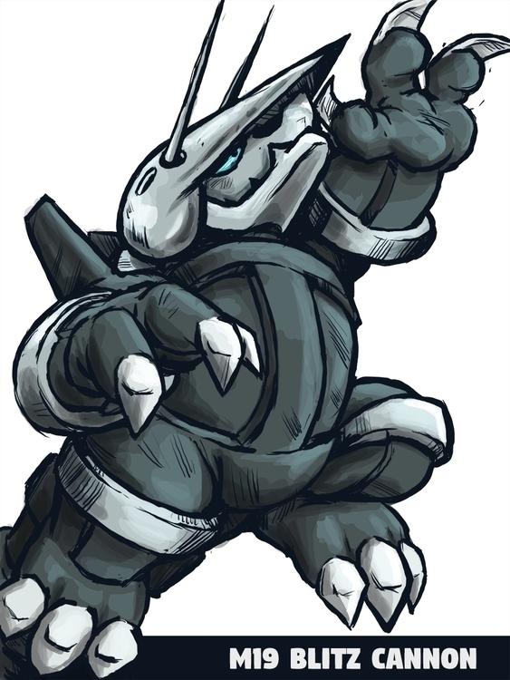 Aggron M19 Blitz Cannon Yeah - aggron - bunnybird-1423 | ello