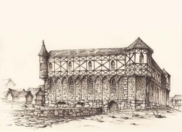Castle - illustration ink imagi - grimdream | ello