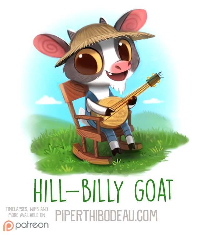 Daily Paint 1574. Hill-Billy Go - piperthibodeau | ello
