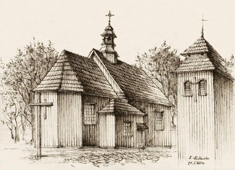Wooden Church - illustration in - grimdream | ello