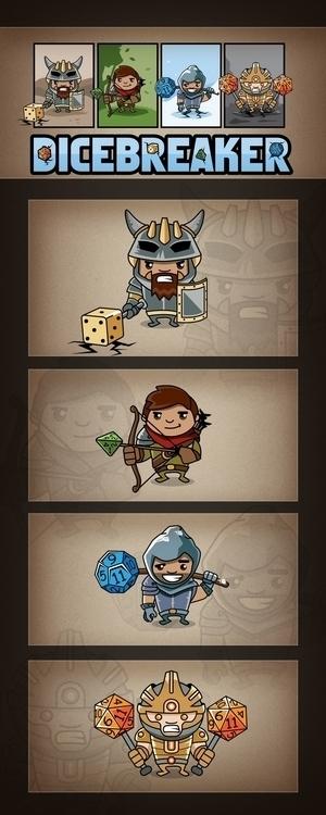 Logo Characters - illustration, gameart - alexandernikolov | ello
