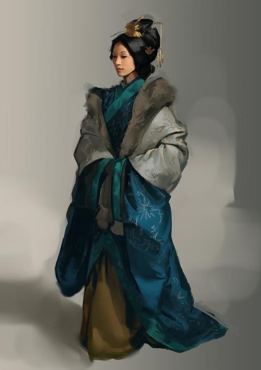 asian girl (study - illustration - stephanieboehm | ello