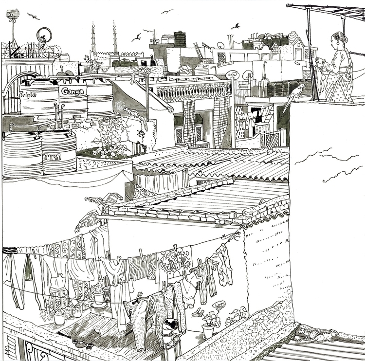 Zoombook project cities - illustration - naktisart | ello