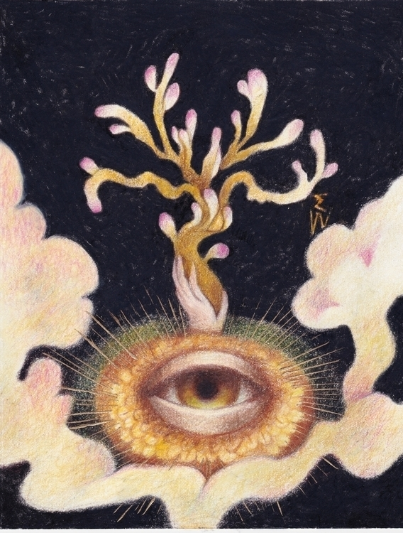 Eye Mystic - painting, drawing, mysticism - emilyweeks | ello