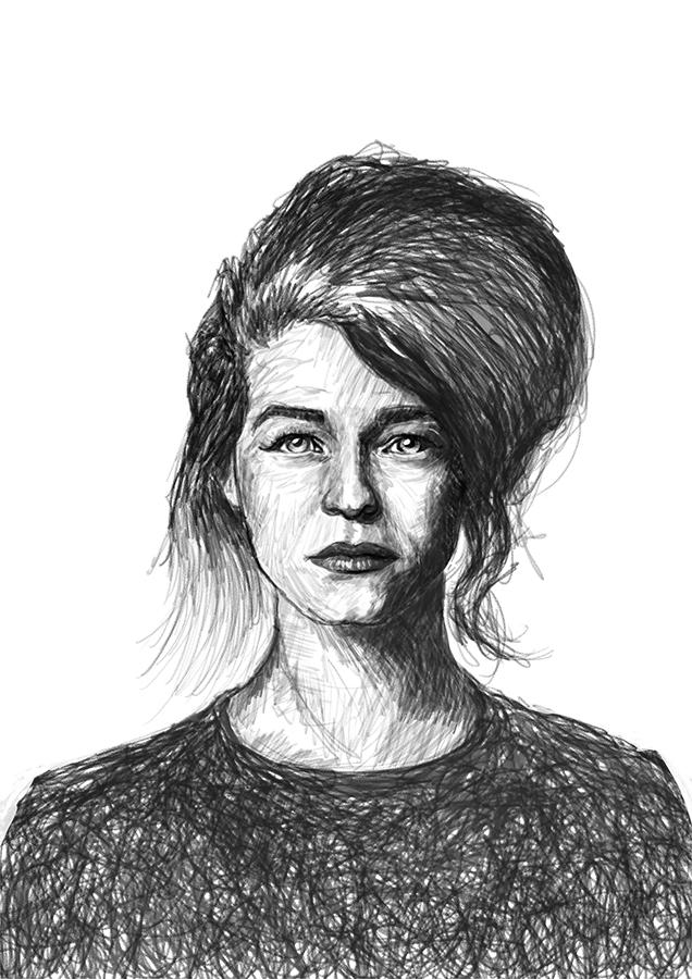 sketch digital portrait Selah S - ladislas-2174 | ello