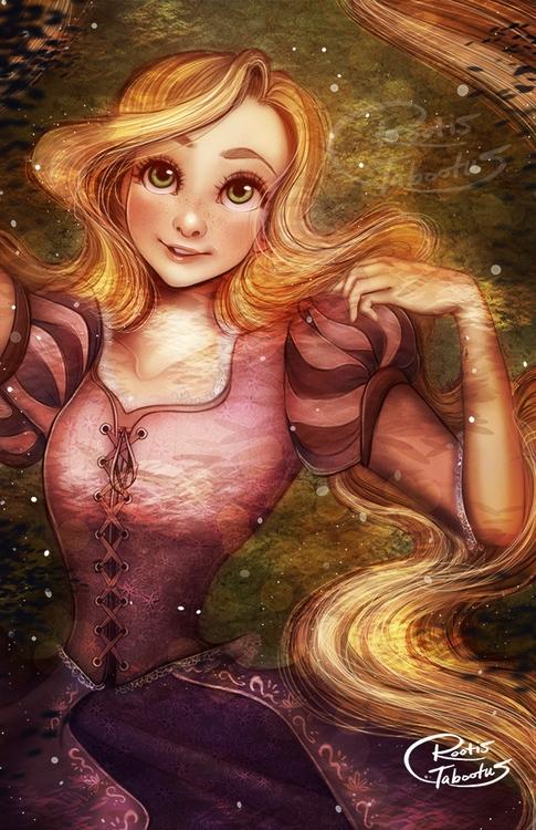 Digital Painting Rapunzel Tangl - rootistabootus | ello
