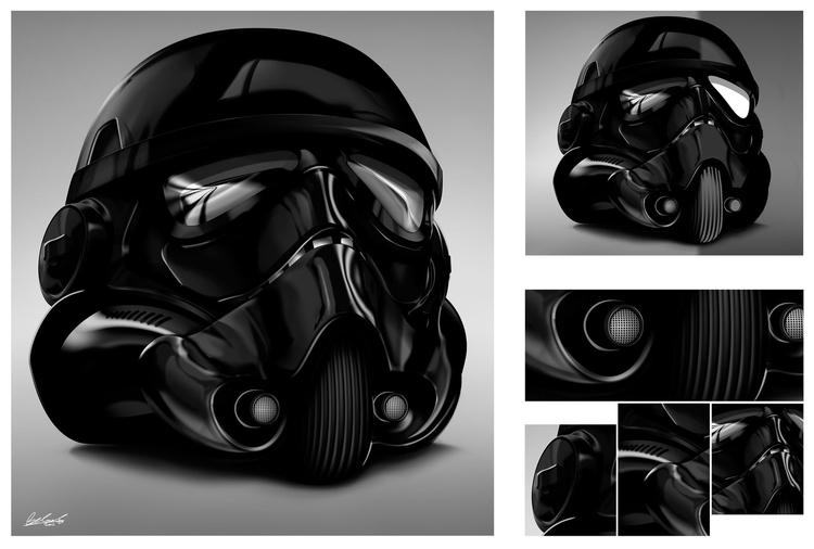 Black Stormtropper - vectorillustration - benskywalking | ello
