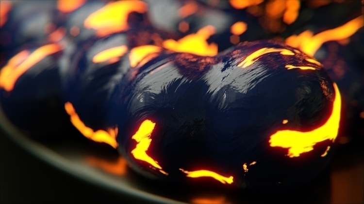 Lava Blob Close - 3d, blender3d - rence-2540 | ello