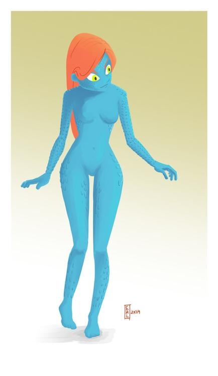 Mystique fan art - characterdesign - emarchena | ello