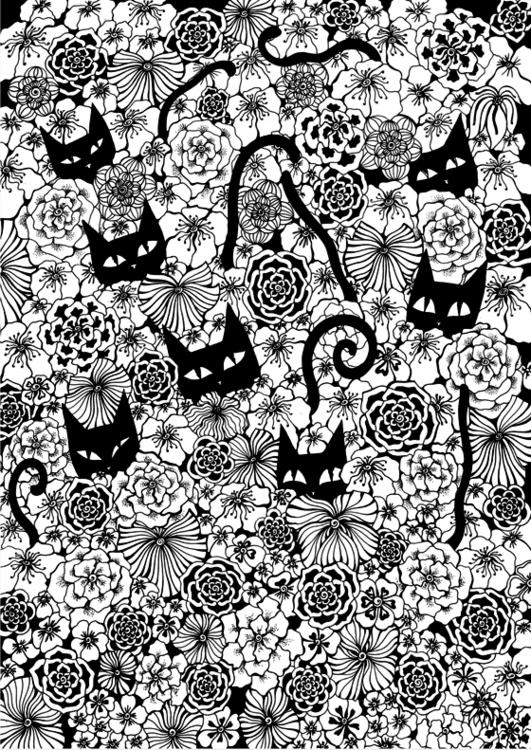 Cat Day - flowers - depesha2 | ello