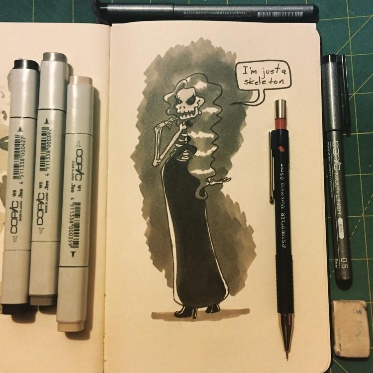 Day 24 - characterdesign, inktober2015 - pingolito | ello