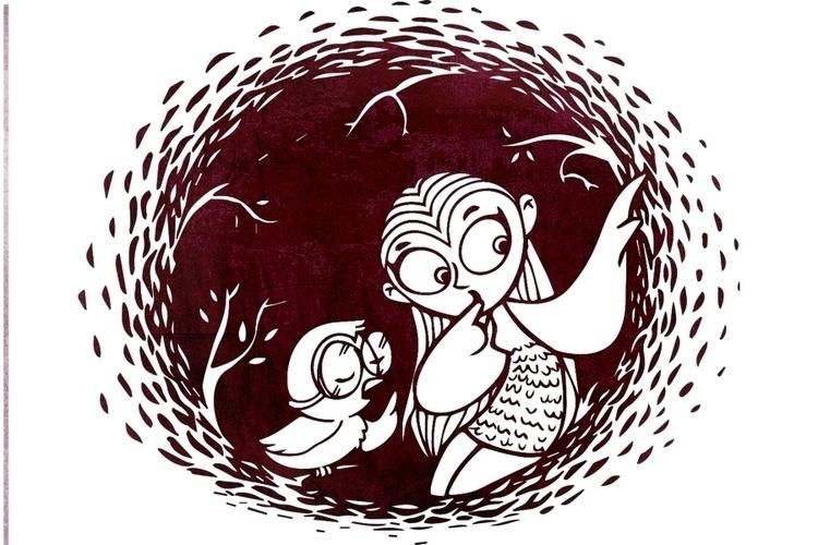 Owlie - illustration, owls, owl - amrita-4734 | ello