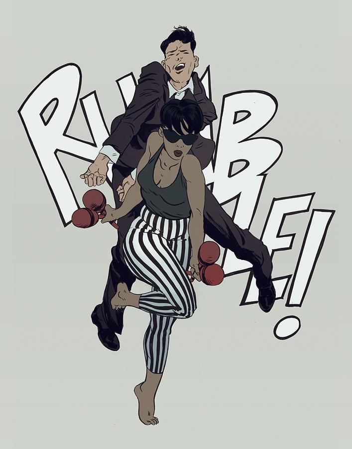 Rumble! | Ink Photoshop - robertsammelin - robertsammelin-9753 | ello