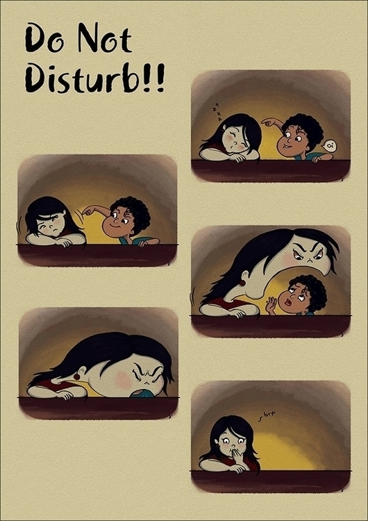 DISTURB - sleep, comicstrip, 2015 - amrita-4734 | ello