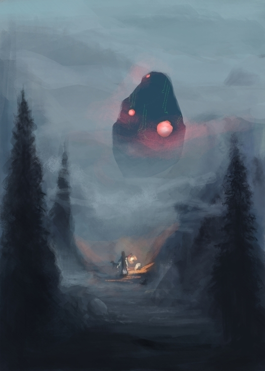 painting ideation concept story - acknebar | ello