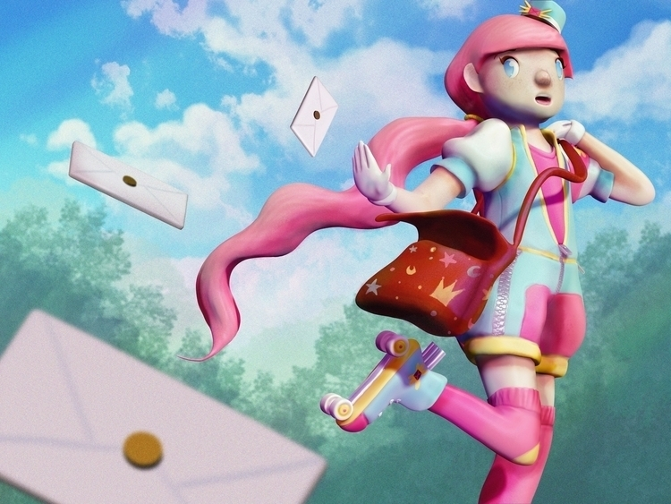 Mail Girl Suzy. Zbrush Adobe Ph - artisteko | ello