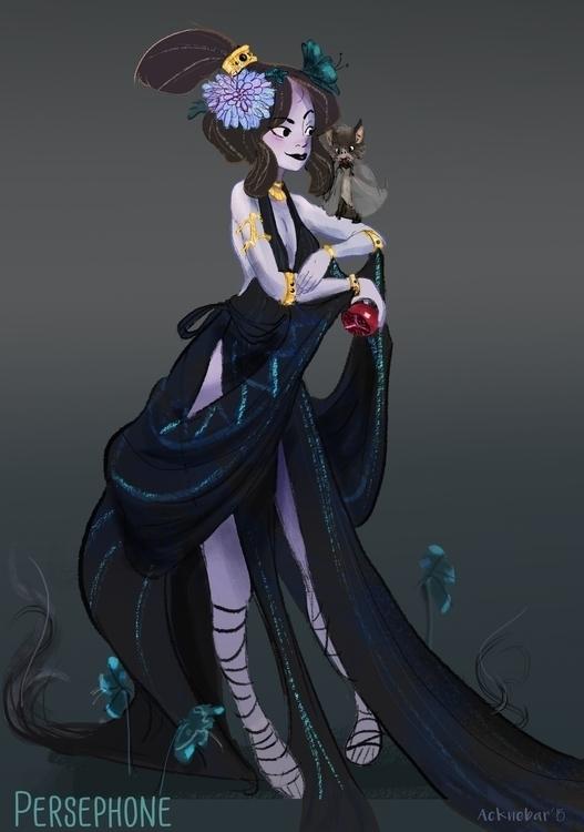 Persephone, Goddess Underworld - acknebar | ello