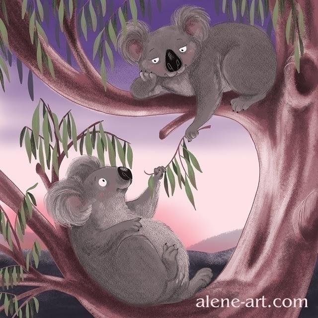 Koalas Love - Valentines illust - aleneart | ello