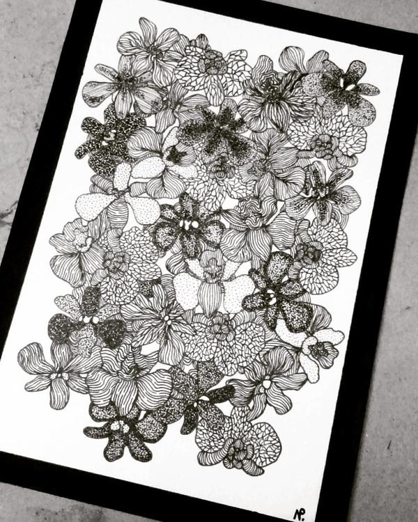 illustration, drawing, dotwork - salutnoe | ello