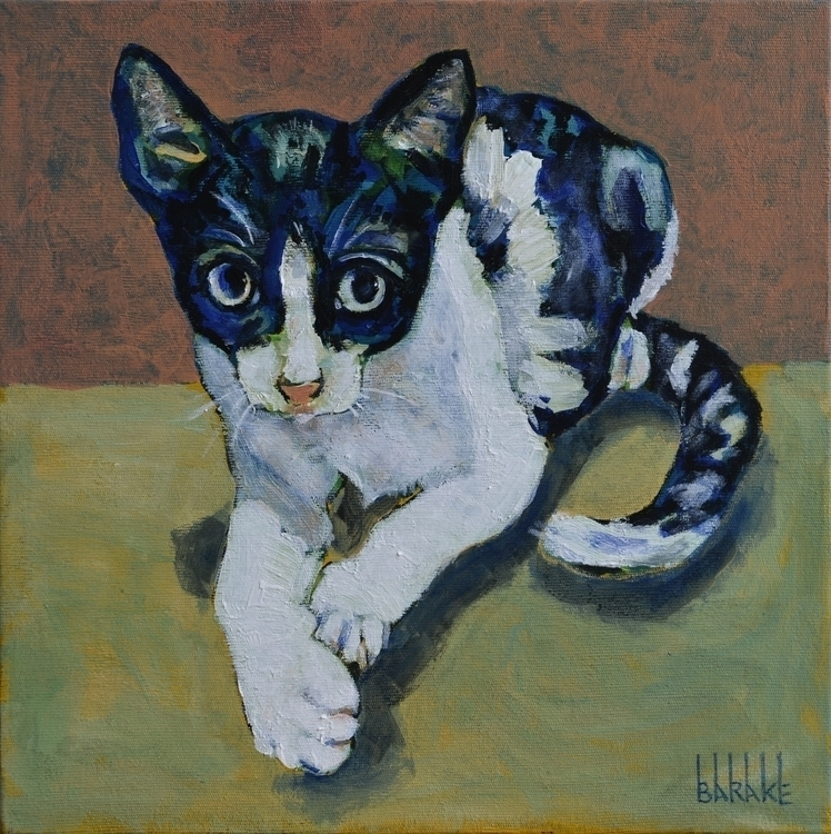 PEPITA - painting, portrait, cat - barakesculptor | ello