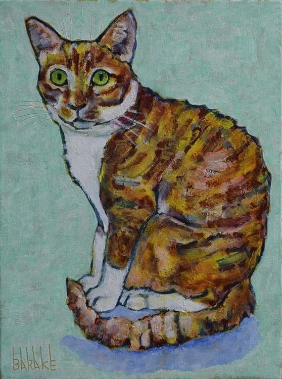 CHUTNEY - painting, portrait, cats - barakesculptor   ello