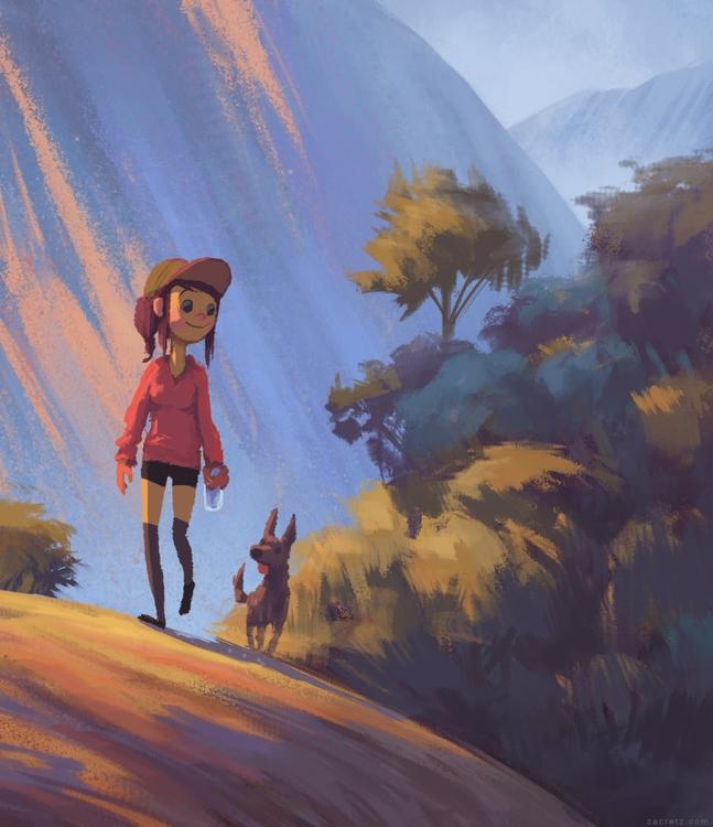 Adventure doggy - 5, apaintingeveryday - zacretz | ello